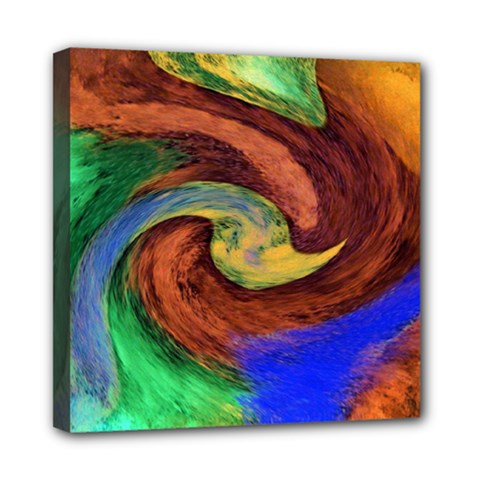 Culture Mix 8  X 8  Framed Canvas Print