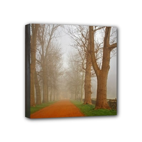 Foggy Morning, Oxford 4  X 4  Framed Canvas Print