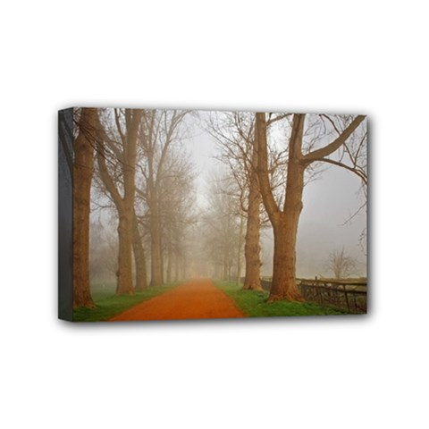 Foggy Morning, Oxford 4  X 6  Framed Canvas Print