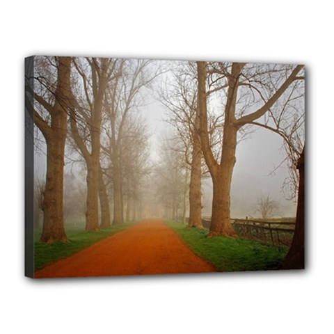 Foggy Morning, Oxford 12  X 16  Framed Canvas Print