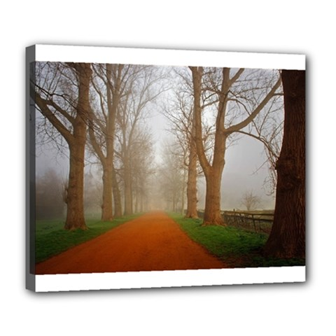 Foggy morning, Oxford Deluxe Canvas 24  x 20  (Stretched)