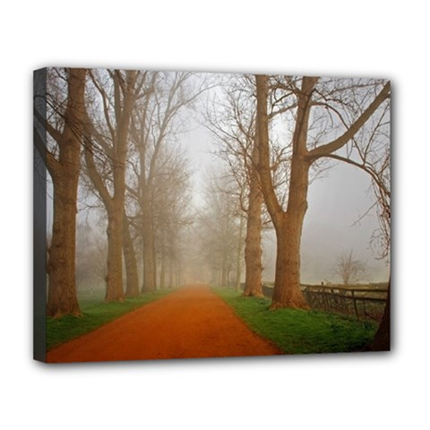 Foggy Morning, Oxford 11  X 14  Framed Canvas Print