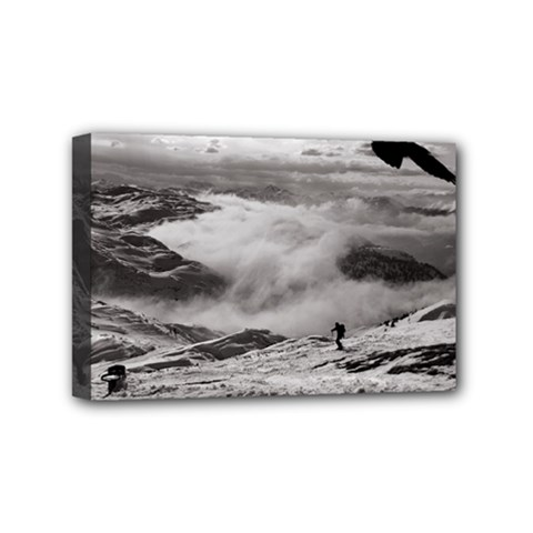 Untersberg Mountain, Austria 4  X 6  Framed Canvas Print