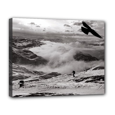 Untersberg mountain, Austria 11  x 14  Framed Canvas Print