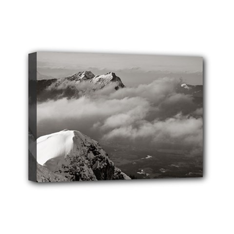Untersberg mountain, Austria 5  x 7  Framed Canvas Print