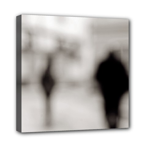 People Fading Away 8  X 8  Framed Canvas Print
