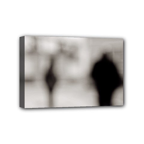 People Fading Away 4  X 6  Framed Canvas Print