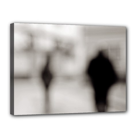 People Fading Away 12  X 16  Framed Canvas Print