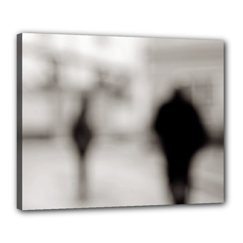 People fading away 16  x 20  Framed Canvas Print