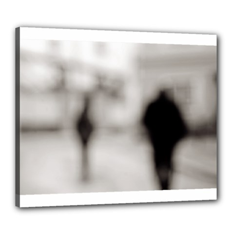People Fading Away 20  X 24  Framed Canvas Print