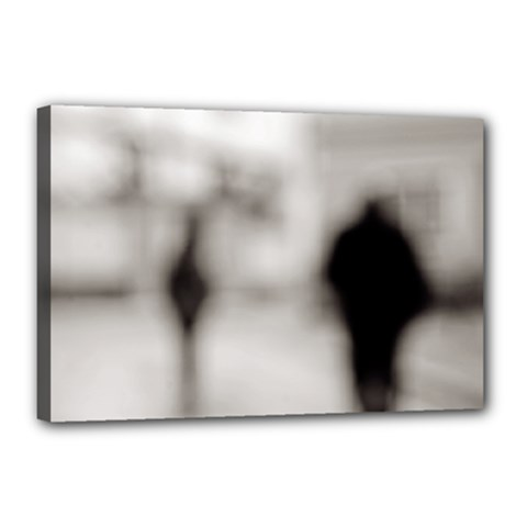 People Fading Away 12  X 18  Framed Canvas Print