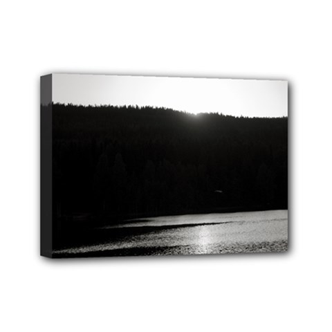 Waterscape, Oslo 5  x 7  Framed Canvas Print