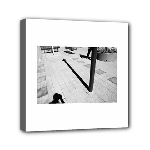 Shadows 6  X 6  Framed Canvas Print