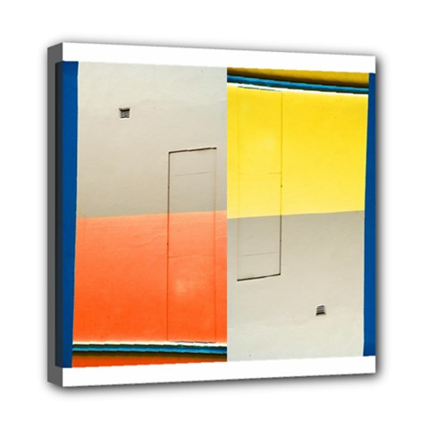 geometry 8  x 8  Framed Canvas Print