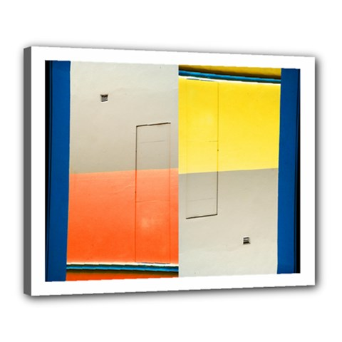 geometry 16  x 20  Framed Canvas Print