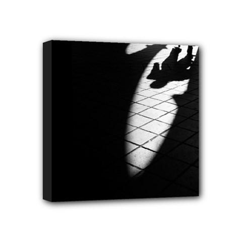shadows 4  x 4  Framed Canvas Print