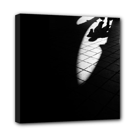 shadows 8  x 8  Framed Canvas Print