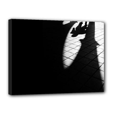 Shadows 12  X 16  Framed Canvas Print