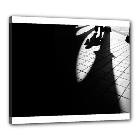 shadows 20  x 24  Framed Canvas Print