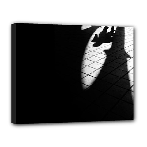 shadows 11  x 14  Framed Canvas Print
