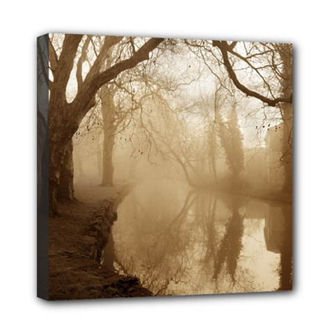 misty morning 8  x 8  Framed Canvas Print