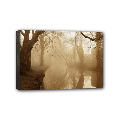 Misty Morning 4  X 6  Framed Canvas Print