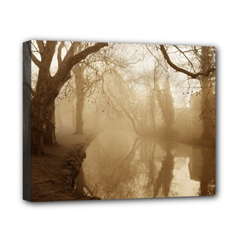misty morning 8  x 10  Framed Canvas Print