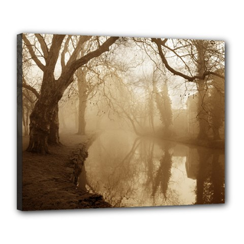misty morning 16  x 20  Framed Canvas Print