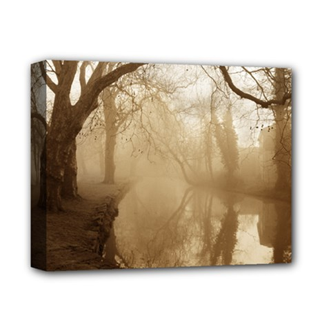 misty morning Deluxe Canvas 14  x 11  (Stretched)