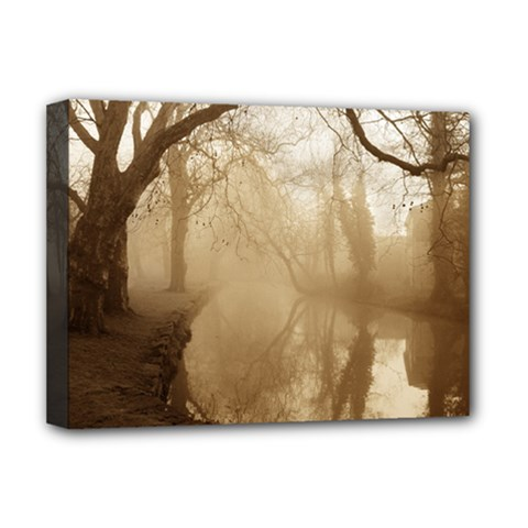 misty morning Deluxe Canvas 16  x 12  (Stretched)