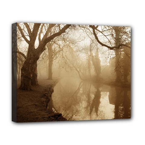 misty morning Deluxe Canvas 20  x 16  (Stretched)