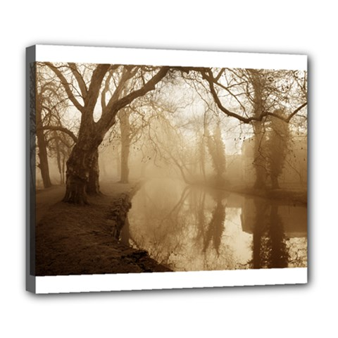 Misty Morning Deluxe Canvas 24  X 20  (stretched)
