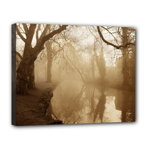 misty morning 11  x 14  Framed Canvas Print