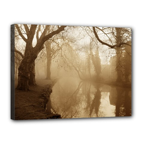 misty morning 12  x 16  Framed Canvas Print