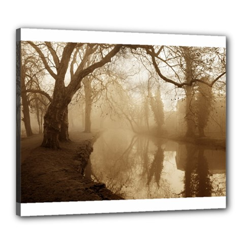 Misty Morning 20  X 24  Framed Canvas Print