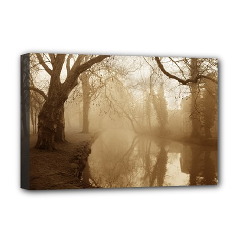misty morning Deluxe Canvas 18  x 12  (Stretched)