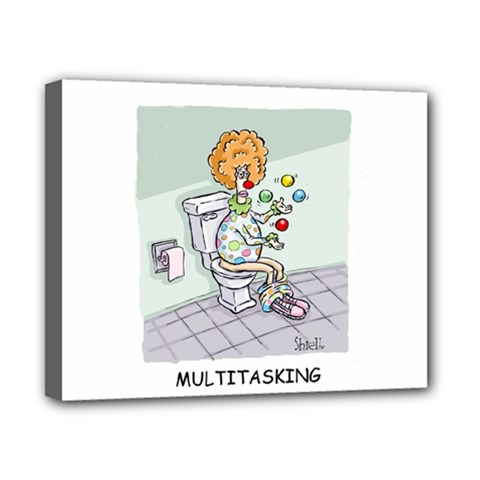 Multitasking Clown 8  x 10  Framed Canvas Print