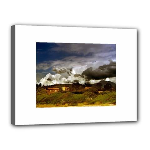 Beach, Corsica 12  X 16  Framed Canvas Print