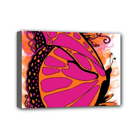 Pink Butter T Copy 5  X 7  Framed Canvas Print