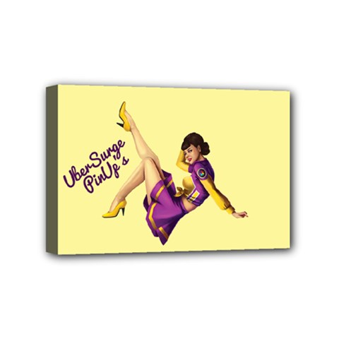 Pin Up Girl 1 Mini Canvas 6  x 4  (Stretched)