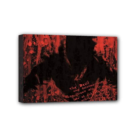 Tormented Devil 4  x 6  Framed Canvas Print
