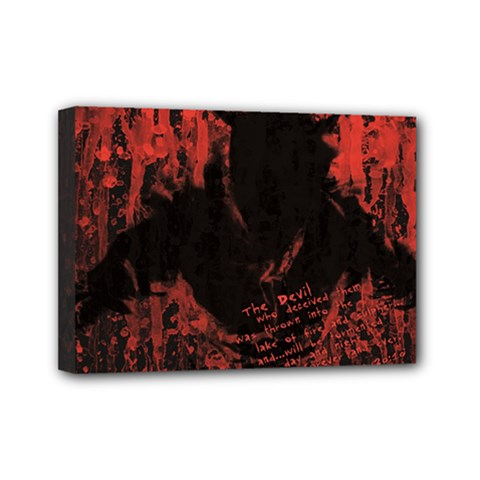 Tormented Devil 5  x 7  Framed Canvas Print