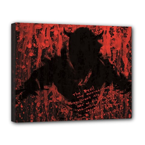 Tormented Devil 11  x 14  Framed Canvas Print