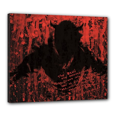 Tormented Devil 20  x 24  Framed Canvas Print