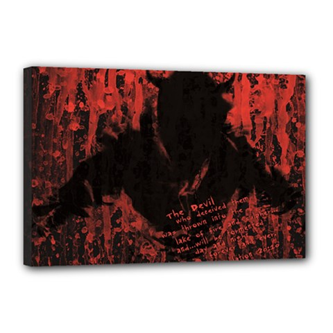 Tormented Devil 12  X 18  Framed Canvas Print