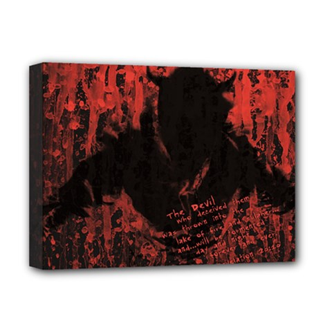 Tormented Devil Deluxe Canvas 16  x 12  (Stretched)