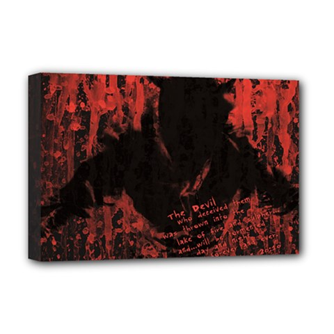 Tormented Devil Deluxe Canvas 18  X 12  (stretched)