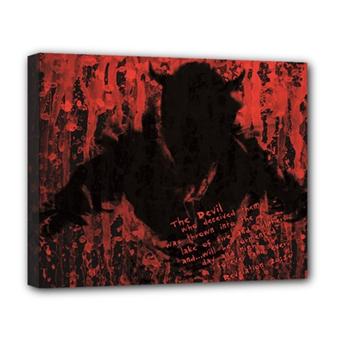 Tormented Devil Deluxe Canvas 20  x 16  (Stretched)