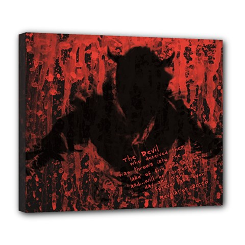 Tormented Devil Deluxe Canvas 24  x 20  (Stretched)