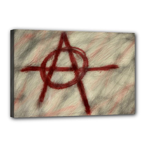 Anarchy 12  x 18  Framed Canvas Print